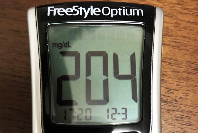 血糖値を測定する